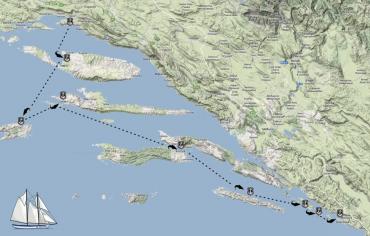 Sailing routes Croatia